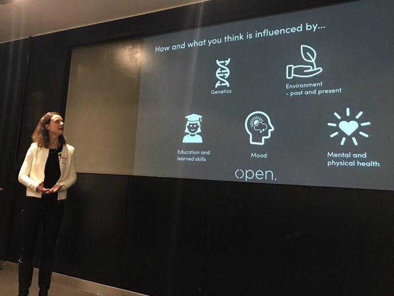 Christine presenting at Service Lab London